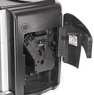 An image of the Gaggia Unica coffee machine's removable brew unit
