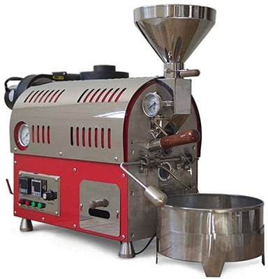 Left Side View of North 500g Gas Coffee Roaster