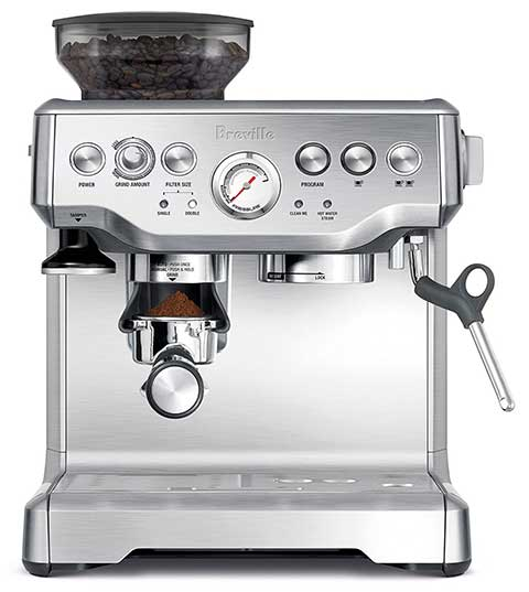 Silver Variants, Breville BES870XL Coffee Machine, Under 600 Dollar
