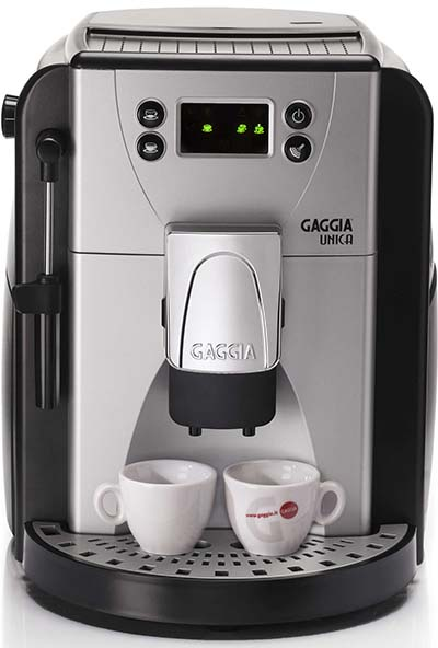 Sliver Black Color, Gaggia Unica, Front View, Under 600 Dollar